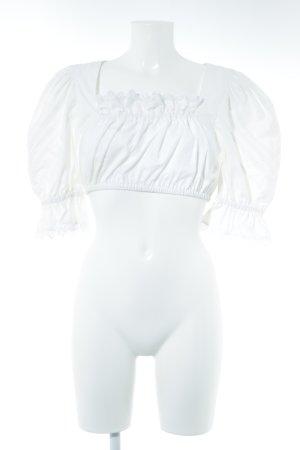 Hess Frackmann Trachtenbluse weiß-wollweiß extravaganter Stil