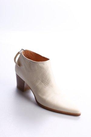 Hess Natur Ankle Boots creme schlichter Stil
