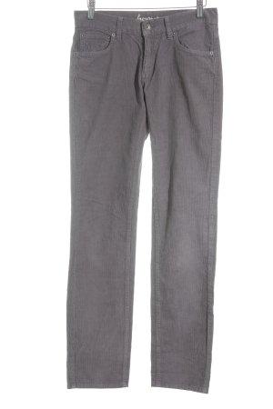 Hess Natur Corduroy broek grijs-paars straat-mode uitstraling