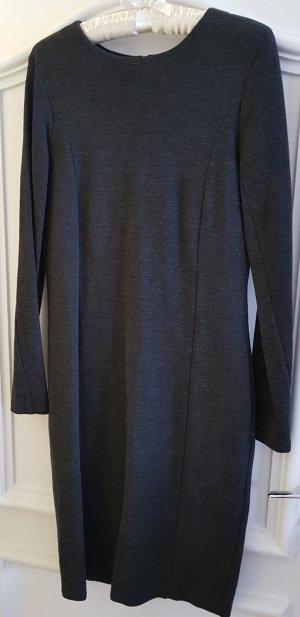 Hess Natur Vestido de lana gris antracita