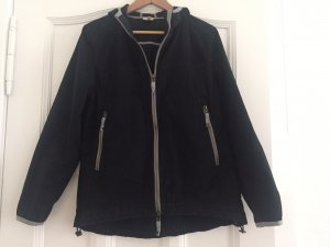 Hess Natur Chaqueta con capucha negro-gris Algodón