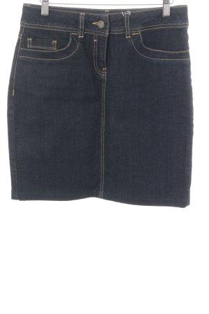 Hess Natur Jeansrock dunkelblau Jeans-Optik