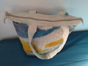 Hess Natur Borsa di tela multicolore Lino