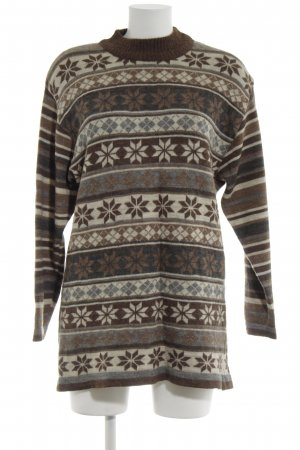 Hess Natur Rundhalspullover grafisches Muster Casual-Look
