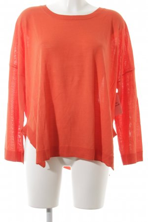 Hess Natur Crewneck Sweater salmon simple style