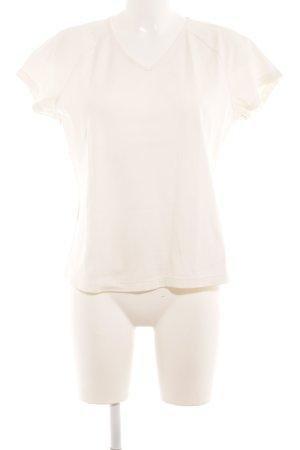 Hess Natur V-Ausschnitt-Shirt hellbeige Casual-Look
