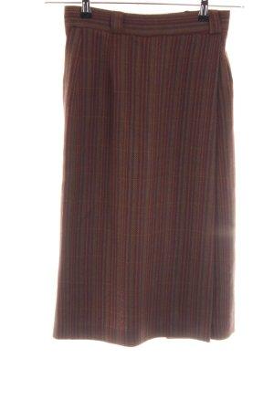 hessnatur Kokerrok bruin gestreept patroon elegant