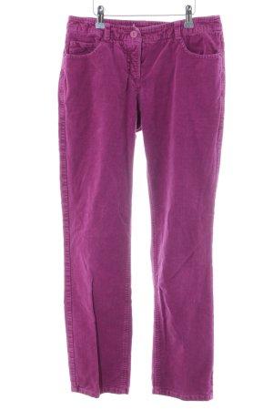 hessnatur Pantalone di velluto a coste rosa-lilla stile casual