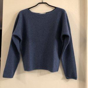 hessnatur Jersey de lana azul acero lana de esquila