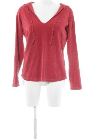 hessnatur Kapuzenpullover rot schlichter Stil