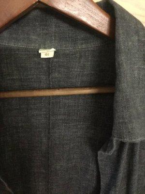 Hess Natur Abito blusa camicia grigio Lino