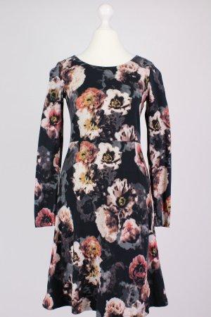 Hessnatur Kleid mit Blumen-Muster schwarz Größe 34