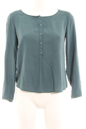 hessnatur Langarm-Bluse kadettblau schlichter Stil