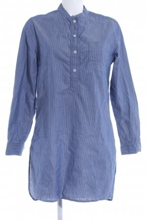 hessnatur Langarmhemd stahlblau Streifenmuster Casual-Look