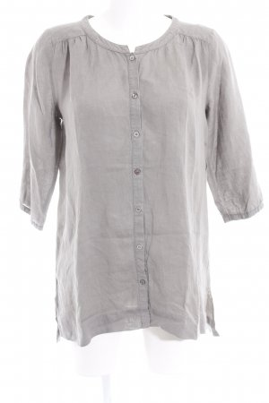 hessnatur Blouse en lin gris style simple