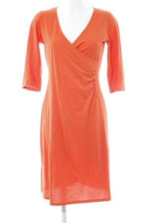 hessnatur Midi Dress orange-dark orange casual look