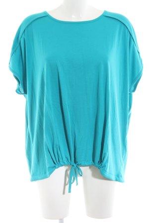 hessnatur Oversized Shirt türkis Casual-Look