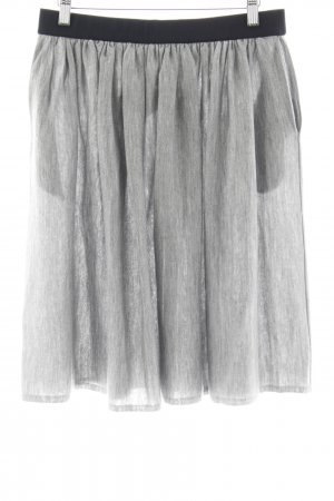 hessnatur Pleated Skirt light grey college style