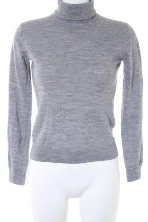hessnatur Maglione dolcevita grigio chiaro-grigio puntinato stile casual