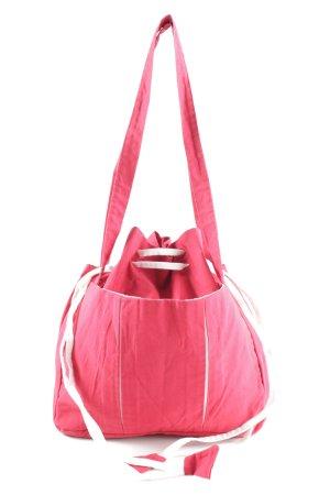 hessnatur Schultertasche pink-weiß Casual-Look