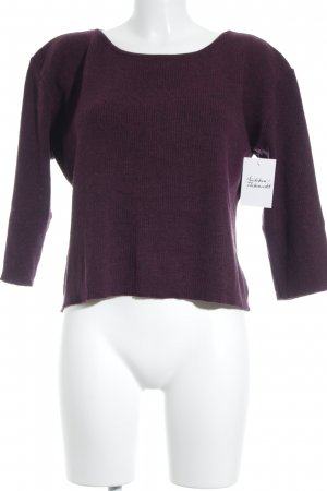hessnatur Strickpullover purpur Casual-Look