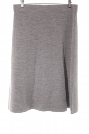 hessnatur Knitted Skirt grey flecked casual look