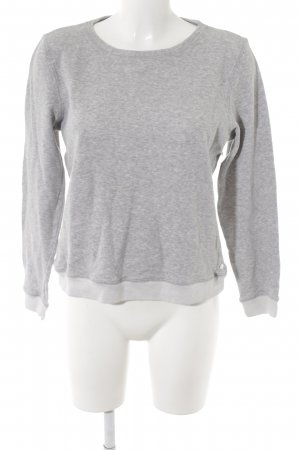 hessnatur Sweatshirt hellgrau-grau meliert Casual-Look