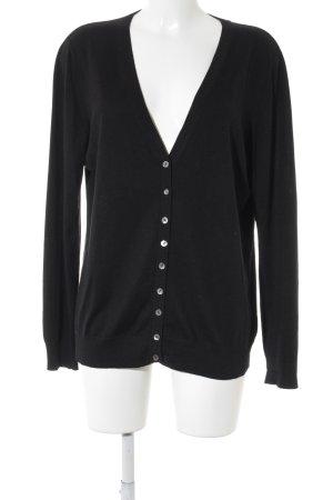 hessnatur V-Ausschnitt-Pullover schwarz Casual-Look