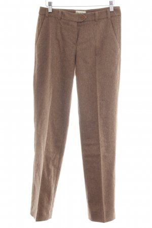 hessnatur Wollhose braun meliert Business-Look