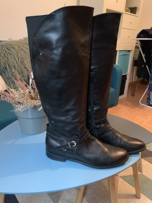 Heyraud Wide Calf Boots black leather