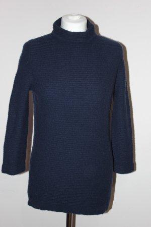 HEYTON dunkelblau LAMBSWOOL Arm 3/4  Pullover SIZE L