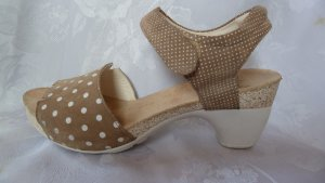 Think! Comfort Sandals sand brown-white leather