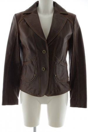 Hi Buxter Leather Jacket brown-bronze-colored casual look