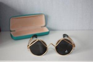 Alexander Glasses dark brown-gold-colored metal