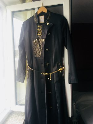Cappotto stile pilota nero-oro