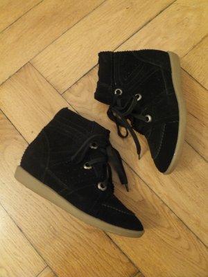 Hidden Wedge Sneaker 37 37,5 Echtleder Bobby Stainer Basket NEU!