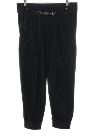 High Pantalon 7/8 noir style décontracté