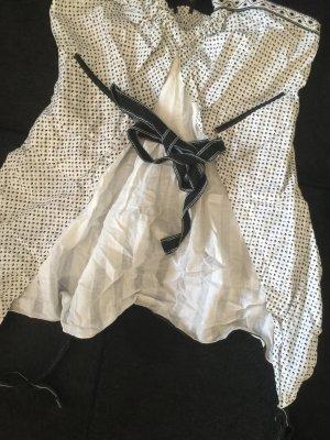 High Blusa negro-blanco
