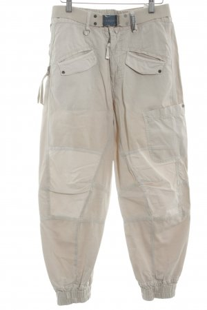 High Cargohose creme-hellbeige Casual-Look