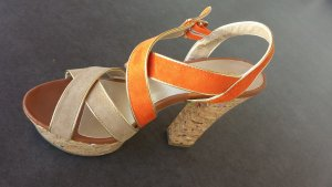 High Fashion Kork Sandalen High  Heel SIZE 39