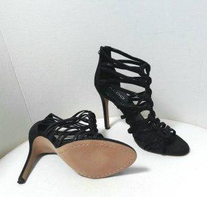 High Heel aus Leder in schwarz