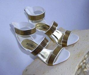 High Heel Botinelli in gr 38 Farbe Weiss Gold Neu