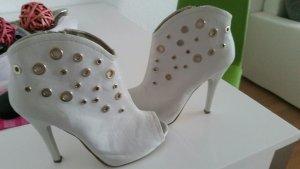 High Heel Sandal light grey imitation leather
