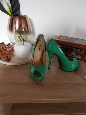Jumex Peep Toe Pumps groen