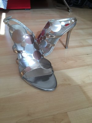 High Heel im Metallic Look
