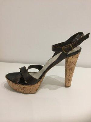 Bagatt Sandalias con plataforma marrón oscuro Cuero