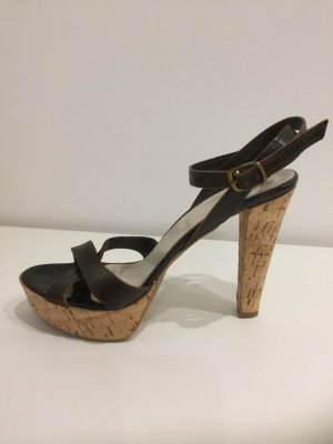 Bagatt Plateauzool sandalen donkerbruin Leer