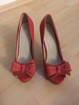 High heel Peeptoes mit Schleife