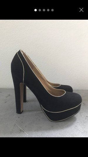 Catwalk High Heels black-gold-colored