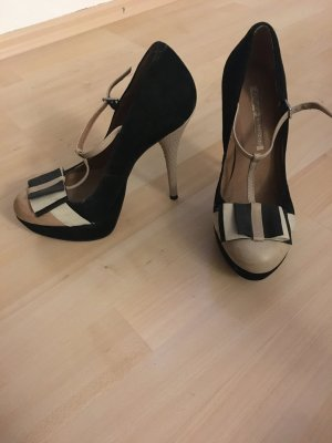 High heel Pumps beige schwarz